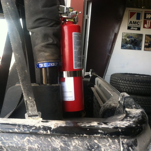 Mounted Fire Extinguisher