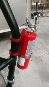 Red Fire Extinguisher Roll Bar Clamp