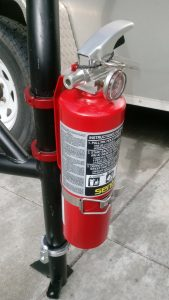 Red Fire Extinguisher Roll Bar Clamps