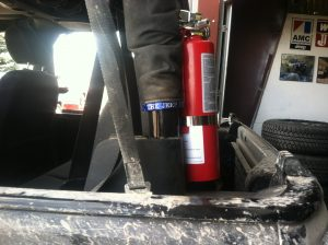 fire extinguisher with TKO clamp
