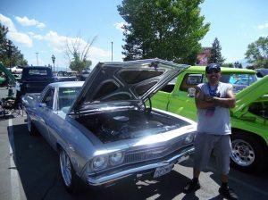 car show with proud owner