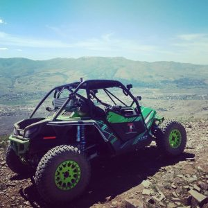 TKO buggy on top of mountain
