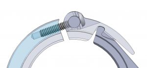 Premium  Adjustable Clamp cross section