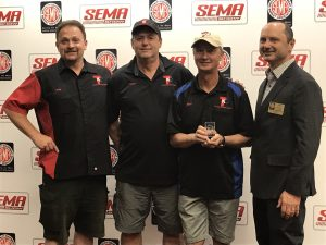 Tim, Kary and Stan accept two Global Media Awards at SEMA 2018