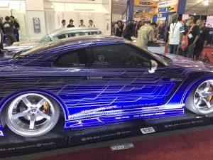 SEMA 2018 blue car