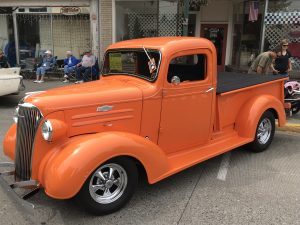 All Wheels Weekend Dayton Washington - orange truck