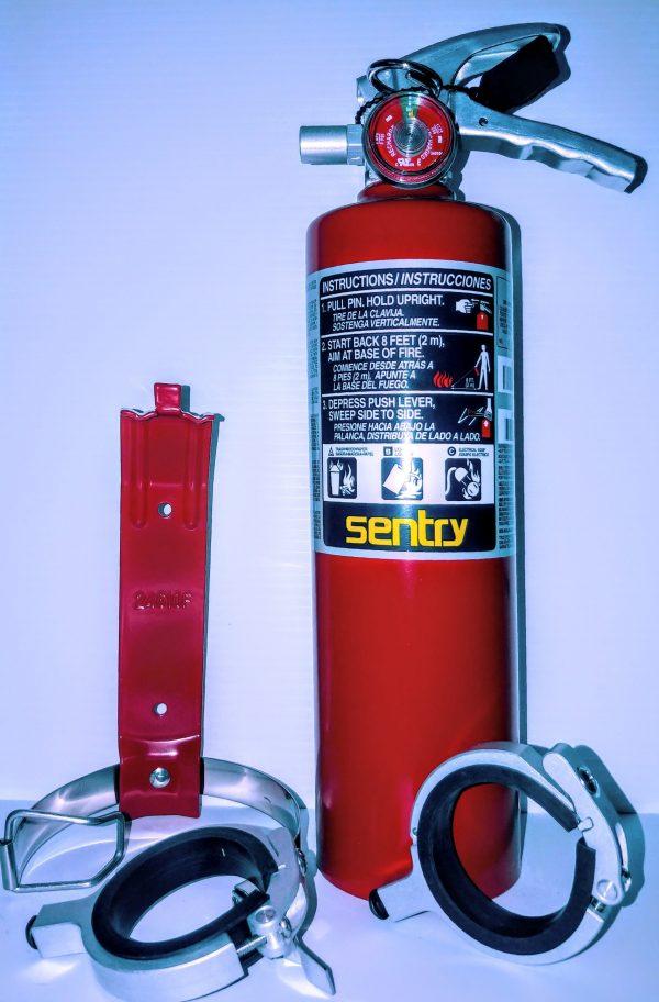 Refillable extinguisher kit
